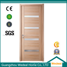 Modern Simple Wood Veneer Interior Door with Glasses