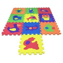Melors EVA Puzzle Foam Interlocking Kids Mat Tapis de jeu pour bébé