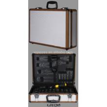 Алюминиевый чемодан с раскладными инструмент паллет внутри
