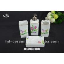 4pcs ceramic bath set