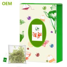 Bricolaje personalizada de alta calidad sello térmico vacío Nylon malla pirámide en forma de hierbas té bolsa de Jiaogulan / Triángulo bolsitas de té con cadena