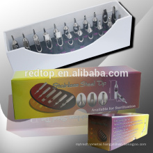 Flat Stainless steel Tattoo Tips