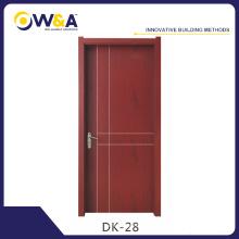 Portes d'intérieur décoratives imperméables et de style européen WPC en Chine