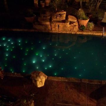 Conversion d'éclairage de piscine à fibre optique en led