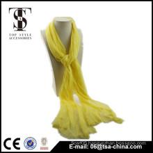 NEW! fashion yellow scarf viscose Lace beauty shawl for woman