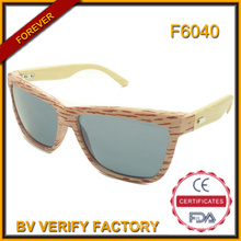 F6040 Handmade High Quality Popular Bamboo Sunglasses Wholesale in China