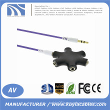 High Quality 3.5mm Multi Earphone Headphone Audio HUB Splitter 1 Male to 2 3 4 5 Female Port With Aux Cable New