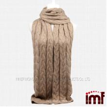 2014 оптовый твердый цвет бесконечности кашемир вязать шарф