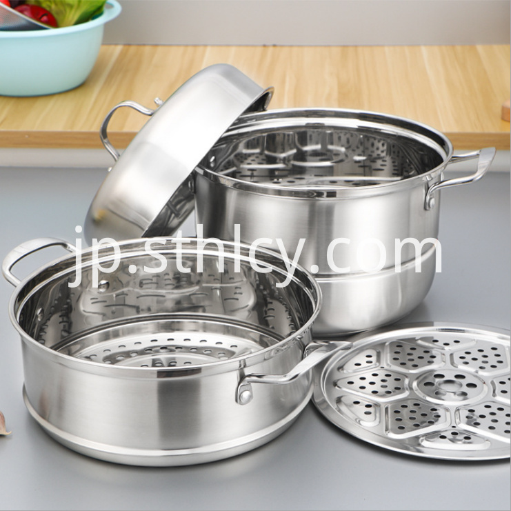Stainless Steel Steamer Pot2