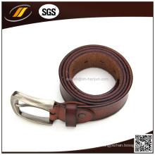 Muestras disponibles precio al por mayor cinturón de cuero puro para hombres