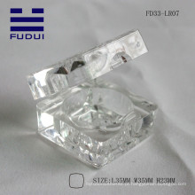 2015 nova marca transparente transparente quadrado impermeável lábio bálsamo case fazer você próprio tubo