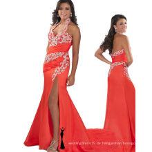 Orange Halter Backless Festzug Kleid Party Kleid mit Strasssteinen RO11-20