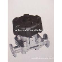 Instalação rápida Válvula de diafragma de aço inoxidável
