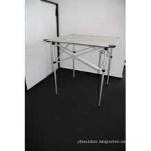 Quality Aluminum Light Weight Picnic Camping Outdoor Portable Folding Table Furniture (QRJ-Z-002)