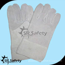 SRSAFETY longer industry leather safety gloves for working