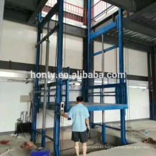 NEW building materials warehouse platform lift Guide rail hydraulic lifting platform