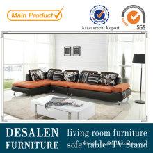 Low Price Italian Genuine Leather Living Room Sofa (M0408)