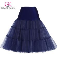 Grace Karin Navy Blue Tutu Petticoat Underskirt Crinoline Skirt For Wedding Vintage Dress CL008922-8