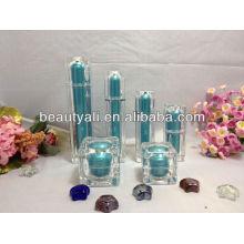 square refillable cosmetics lotion bottle