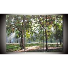 Современные 100% ручной масляной живописи пейзаж на Canavs для домашнего украшения (LA3-027)