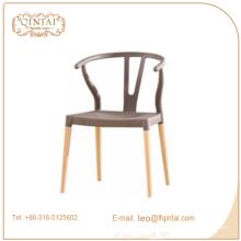 Silla de madera de la sala de estar de cuatro piernas de la venta caliente, pp y silla de madera, silla de cena clásica del diseño