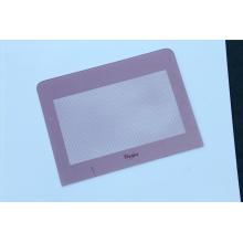 Tela de seda decorativa rosa vidro temperado impresso