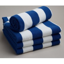100%Cotton Stripe Blue and White Pool Towel