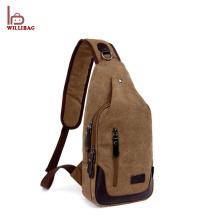 Popular cross body messenger bag canvas sling men chest bag
