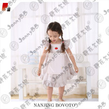 White stripes cute embroidered girl dress