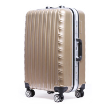 Brown Wave Moulding Durable Travel Luggage/Suitcase/Trolley Bag Set