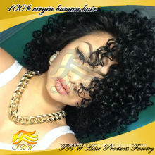 Вьющиеся Волосы Афро Кудрявый Человеческих Волос Кружева Перед Парик