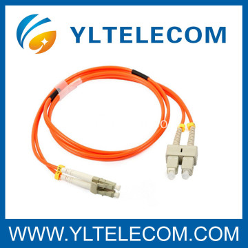 PC - SC Fiber Optic Patch Cord Duplex 62.5 / 125 3.0mm For FTTX and LAN