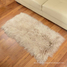 Wholesale high quality 100% real genuine tibetan mongolian lamb fur blanket