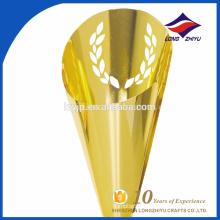 trophée céréalière personnalisée, trophée doré