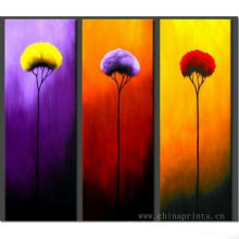 Abstract Handmade Flower 3pcs knife Oil Painting
