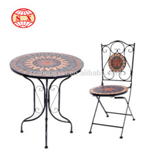 new metal antique mosaic garden table and chair