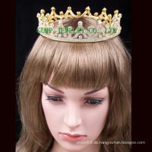2016 Gold überzogene KristallTiara heiße Verkaufs-Krone