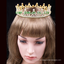 Corona caliente de la venta de la tiara cristalina plateada oro 2016