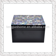 Paua Shell Storage Box with Black Paint Smallest size