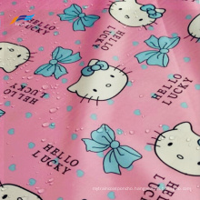 Polyester 190T PVC Taffeta Printed Waterroof Children Fabric