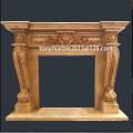 Lareira de mármore bege profunda para a decoração (SY-MF005)