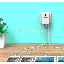 ORICO S4U Adaptateur multifonctionnel de voyage à l'échelle grand mini chargeur portable portable USB 4 ports