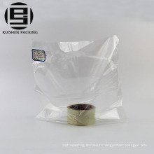 Sacs à provisions en plastique hdpe clair pas cher personnalisé