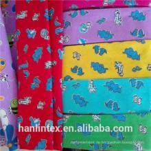 China Supplier Printed oder Plain gefärbt Full Cotton Flanell Stoff mit doppelten Seiten gebürstet