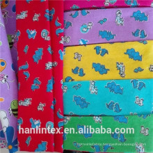 China Supplier Printed or Plain Dyed Full Cotton Flannel Fabric With Double Sides Brushed