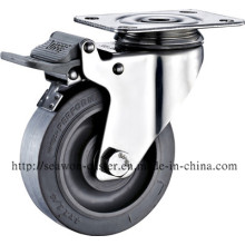 Stainless Steel Series - TPR Caster (Flat Rim)