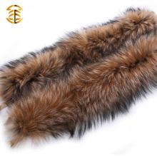 Natural Large Raccoon Fur Collar Raccoon Fur Trim For Hood