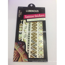 Luminous tattoo sticker BODY SKIN ART TEMPORARY TATTOO