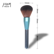 Professional blue Glitter Wood Large Powder Brush