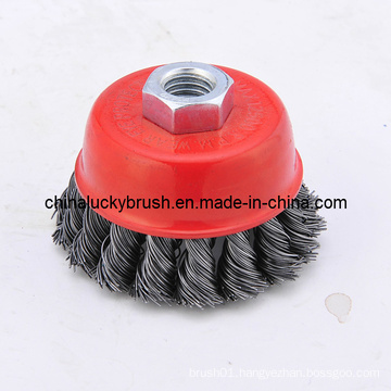 2.5inch Steel Wire Knotted Cup Brush (YY-039)